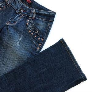 BH studded jeans Sz 26
